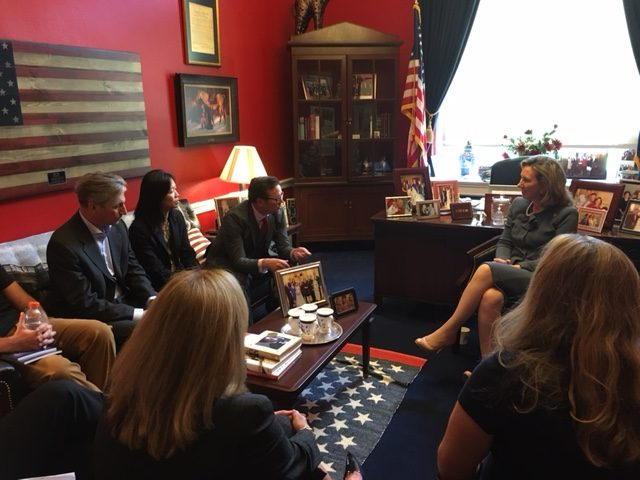The photo is from our meeting with Representative Barbara Comstock (R-VA).